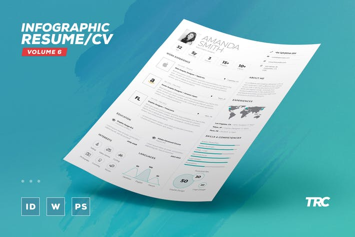 Infographic Resume/Cv Volume 6
