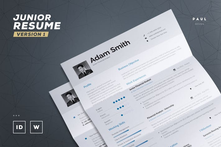 Junior Resume / Cv Template
