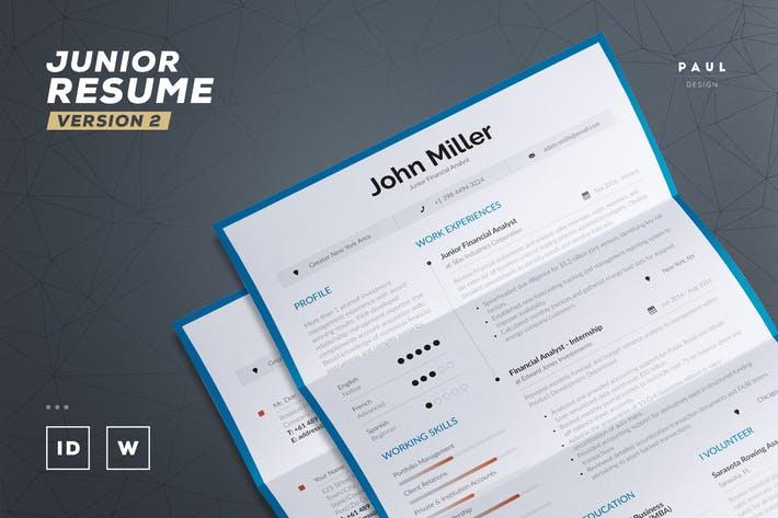 Junior Resume / Cv Template v2