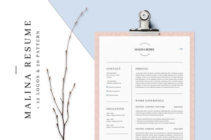 MALINA Resume – 3 Pages + Bonus