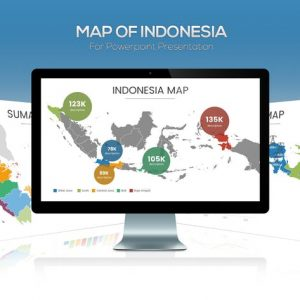 Map of Indonesia for Powerpoint