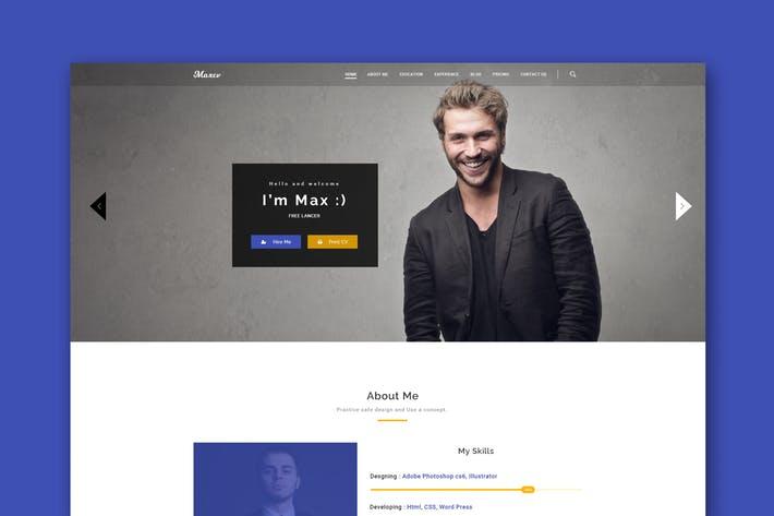 Max CV - Resume/CV PSD Template