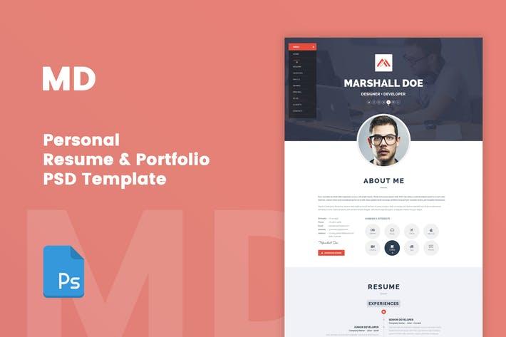 MD - Resume & Portfolio PSD Template
