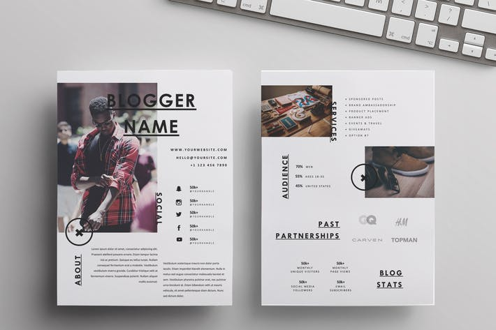 A4+US Letter Media Kit Template |