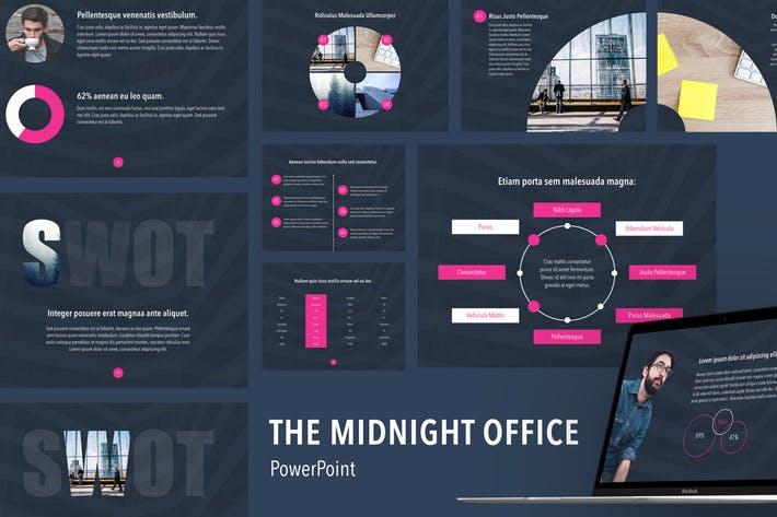Midnight Office PowerPoint Template