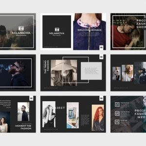 Milaniova Fashion Powerpoint Presentation