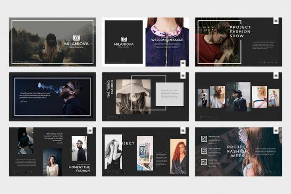 Milaniova Fashion Powerpoint Presentation