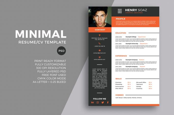 Minimal Resume Tempalte