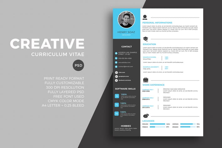 Modern resume and CV tempalte