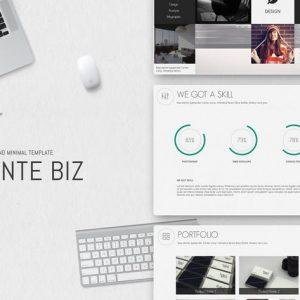 MonteBiz Minimal Powerpoint Template