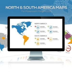 North & South America Maps for Powerpoint