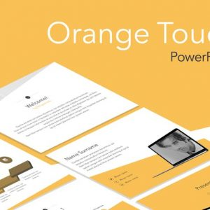 Orange Touch PowerPoint Template