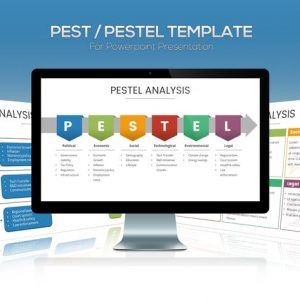 PEST / PESTEL Diagram Template for Powerpoint