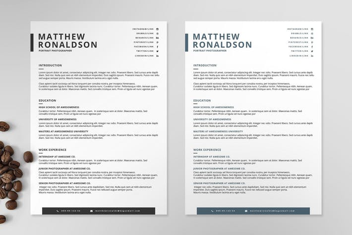 Resume/CV Template VII