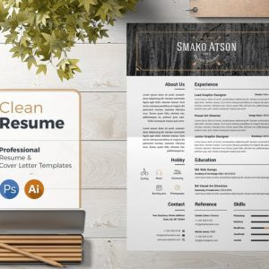Resume Template Retro 01