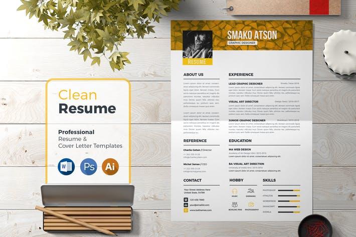 Resume Template Retro 03