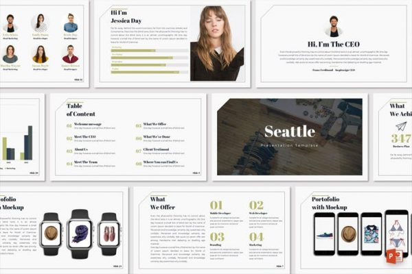 Seattle - Powerpoint Template