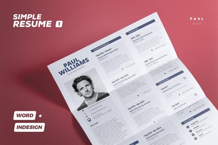 Simple Resume/Cv Volume 1