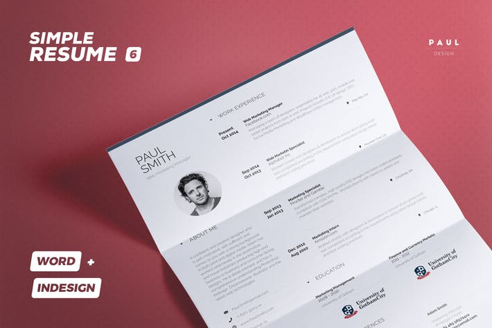 Simple Resume/Cv Volume 6