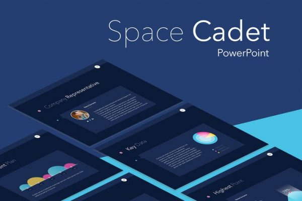 Space Cadet PowerPoint Template