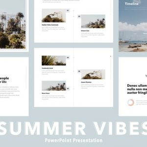 Summer Vibes PowerPoint Template