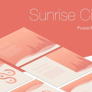 Sunrise City PowerPoint Template