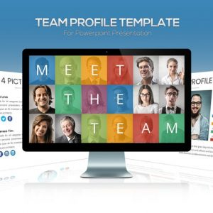 Team Profile Powerpoint Template