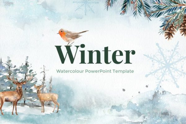Winter - Watercolour PowerPoint Template