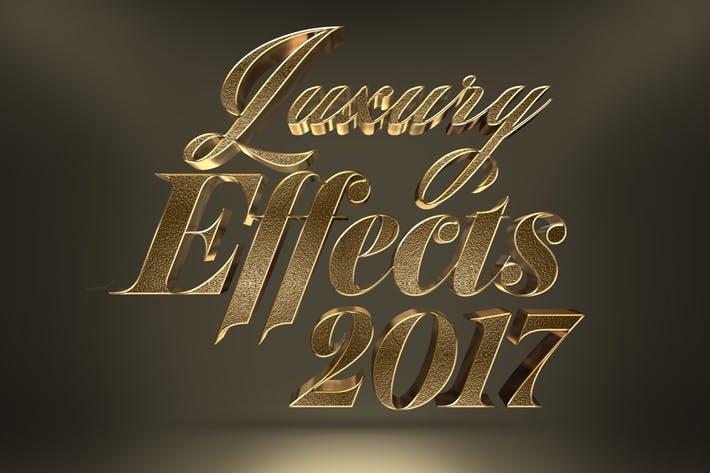 3D Gold Text Effects Vol  1