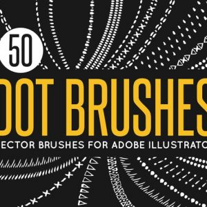 50 Vector Dot Brushes