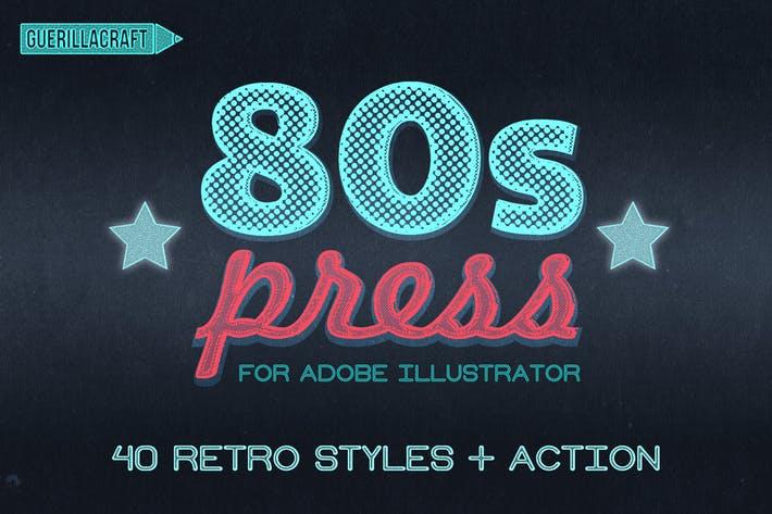 80s Press for Adobe Illustrator