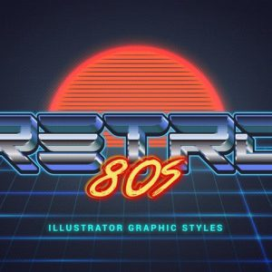 80s Retro Illustrator Styles