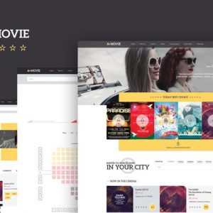 A.Movie — Cinema/Movie HTML LESS Template
