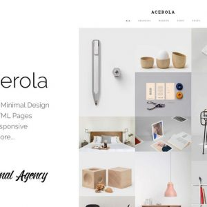 Acerola - Ultra Minimalist Agency HTML5 Template