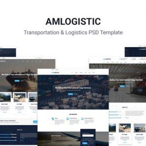 Amlogistic | Transportation & Logistics PSD Templa