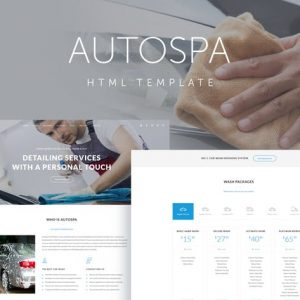 Auto Spa - Car Wash Auto Detail Template