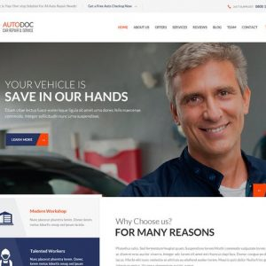 AutoDoc - HTML Car Repair Mechanic Shop