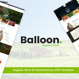 Balloon | Organic Farm & Food Business PSD Templat