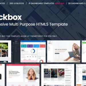 Blockbox Responsive Multi Purpose HTML5 Template