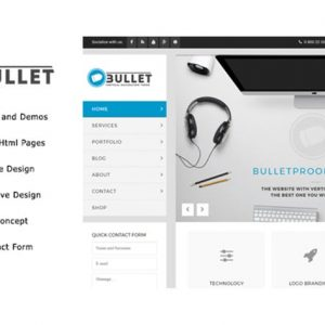 Bullet - Multipurpose Vertical Menu HTML Template