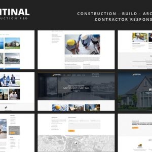 CONTINAL - Construction Responsive Template