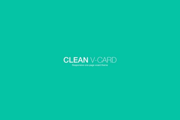 Clean Responsive Retina Ready V-card Template