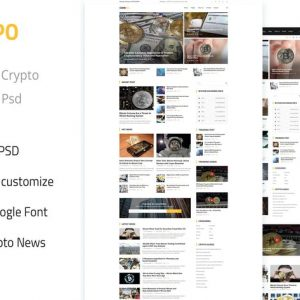 Coinpo | Bitcoin & Crypto Currency PSD Template
