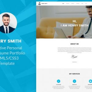 Creative Personal Portfolio Resume HTML5 Template