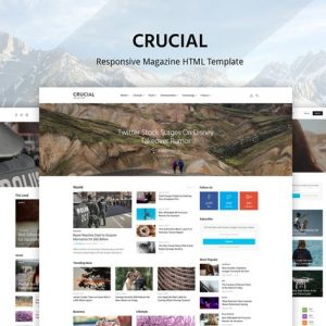 Crucial - Magazine Bootstrap HTML Template