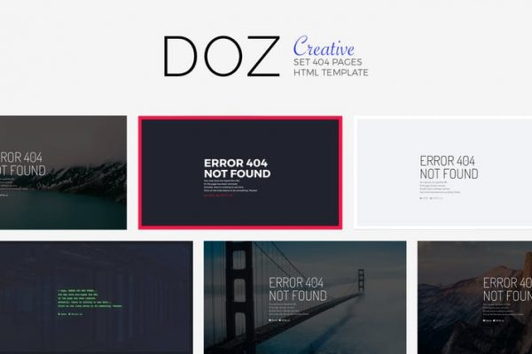 DOZ - Creative 404 Pages