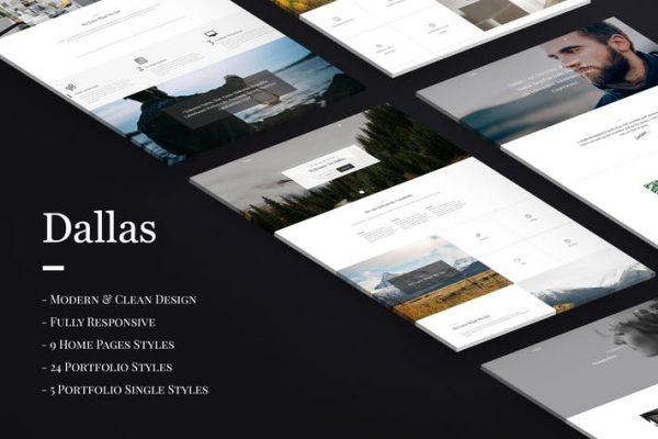 Dallas - Minimal Agency & Portfolio HTML Template