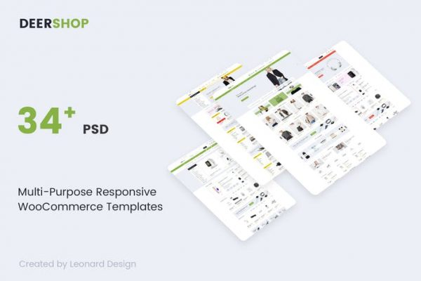 DeerShop | Multi-Purpose Responsive Ecommerce PSD