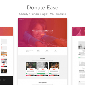 Donate Ease - Charity / Fundraising HTML Template