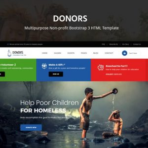 Donors - Multipurpose Bootstrap 3 HTML Template